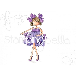 Stamping Bella - Cling Rubber Stamp - Tiny Townie Garden Girl Violet