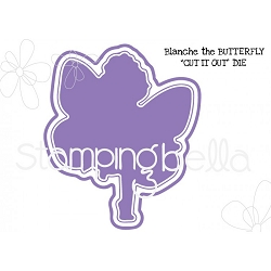 Stamping Bella - Cutting Dies - Tiny Townie butterfly girl Blanche  CUT IT OUT dies