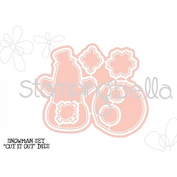 Stamping Bella - Cutting Dies - Little Bits Snowman Set CUT IT OUT dies