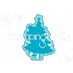 Stamping Bella - Cutting Dies - Uptown Girl Tina Trims The Tree CUT IT OUT dies