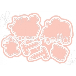 Stamping Bella - Cutting Dies - The Littles Santa Kids & Pets CUT IT OUT dies