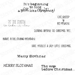Stamping Bella - Cling Rubber Stamp - Merry Slothmas Sentiment set