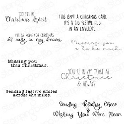 Stamping Bella - Cling Rubber Stamp - Long Distance Christmas Sentiment Set