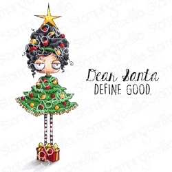 Stamping Bella - Cling Rubber Stamp - Christmas Tree Oddball