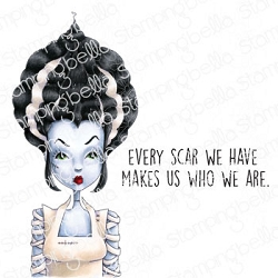 Stamping Bella - Cling Rubber Stamp - Mochi Bride Of Frankenstein