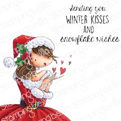 Stamping Bella - Cling Rubber Stamp - Uptown Girl Katrina's Christmas Kisses