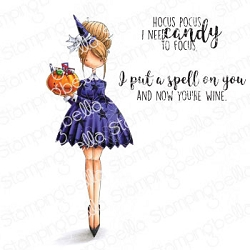 Stamping Bella - Cling Rubber Stamp - Curvy Girl Loves Halloween