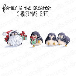 Stamping Bella - Cling Rubber Stamp - Penguin Family