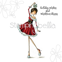 Stamping Bella - Cling Rubber Stamp - Uptown Girl Eve under the mistletoe