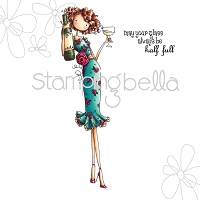 Stamping Bella - Cling Rubber Stamp - Uptown Girl Opal the optimist