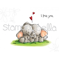 Stamping Bella - Cling Rubber Stamp - Ellie Loves Phants stuffies