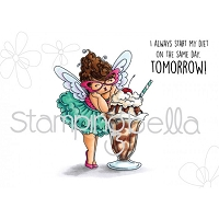Stamping Bella - Cling Rubber Stamp - Edna loves ice cream