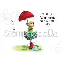 Stamping Bella - Cling Rubber Stamp - Tiny Townie Rachel loves the rain