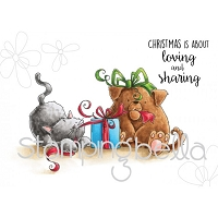 Stamping Bella - Cling Rubber Stamp - Christmas Tug of War