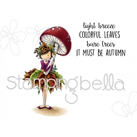 Stamping Bella - Cling Rubber Stamp - Tiny Townie Autumn loves Autumn