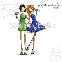 Stamping Bella - Cling Rubber Stamp - Uptown Girl Victoria and Juliette