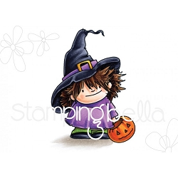 Stamping Bella - Cling Rubber Stamp - Squidgy Witchy Trick or Treater