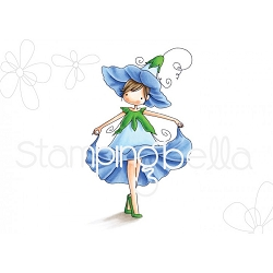 Stamping Bella - Cling Rubber Stamp - Tiny Townie Garden Girl Morning Glory