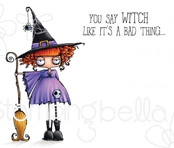 Stamping Bella - Cling Rubber Stamp - Oddball Witch