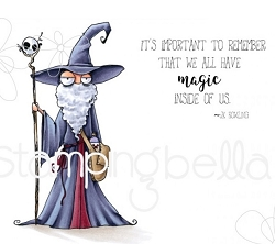 Stamping Bella - Cling Rubber Stamp - Oddball Wizard