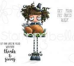 Stamping Bella - Cling Rubber Stamp - Thanksgiving Oddball