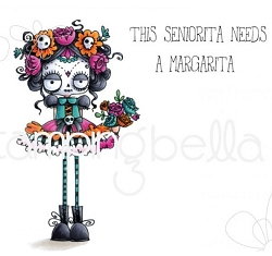 Stamping Bella - Cling Rubber Stamp - Day of the Dead Oddball