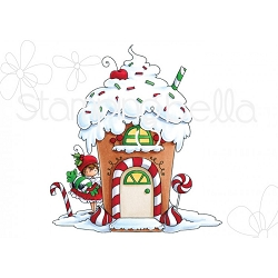 Stamping Bella - Cling Rubber Stamp - Teeny Tiny Townie Gingerbread House