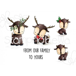 Stamping Bella - Cling Rubber Stamp - Reindeer Family