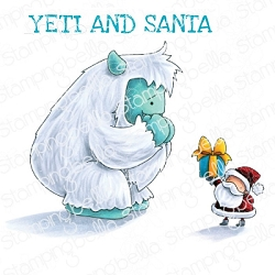 Stamping Bella - Cling Rubber Stamp - YETI and SANTA