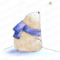 Stamping Bella - Cling Rubber Stamp - POLAR BEAR wishing upon a star