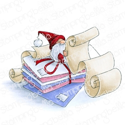 Stamping Bella - Cling Rubber Stamp - GNOME with a list