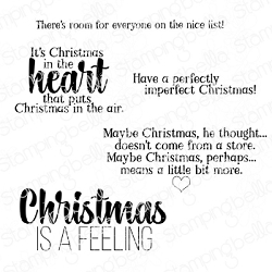 Stamping Bella - Cling Rubber Stamp - Christmas Sentiments
