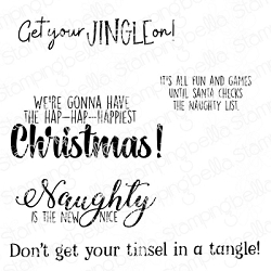 Stamping Bella - Cling Rubber Stamp - Holiday Fun Sentiments