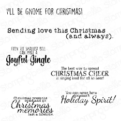Stamping Bella - Cling Rubber Stamp - FESTIVE GNOME sentiment