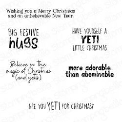 Stamping Bella - Cling Rubber Stamp - YETI Sentiments