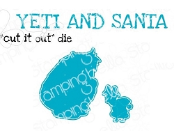 Stamping Bella - Cutting Dies - YETI and SANTA  CUT IT OUT dies
