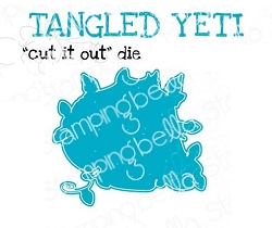 Stamping Bella - Cutting Dies - tangled YETI  CUT IT OUT dies