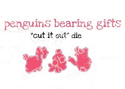 Stamping Bella - Cutting Dies - Penguins Bearing Gifts CUT IT OUT dies