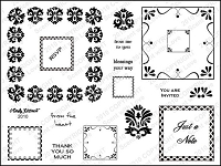 StampingScrapping-Clear Stamp-Lacey Squares