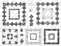 StampingScrapping-Clear Stamp-Fleur De Lis Square