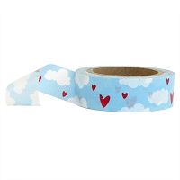 Stampington & Company - Washi Tape - Blue Sky Hearts and Clouds