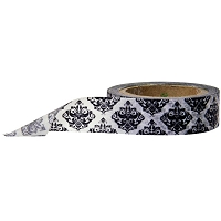 Stampington & Company - Washi Tape - Black Floral Damask