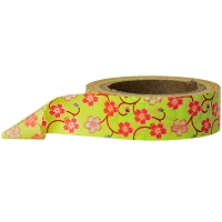 Stampington & Company - Washi Tape - Red Flowers in Yellow