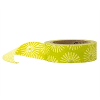 Stampington & Company - Washi Tape - Lime Green Daisy Pattern