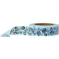 Stampington & Company - Washi Tape - Blue Rose Pattern