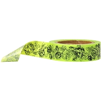 Stampington & Company - Washi Tape - Green Rose Pattern