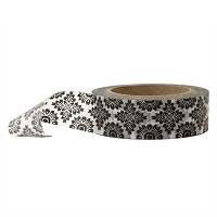 Stampington & Company - Washi Tape - Black Damask