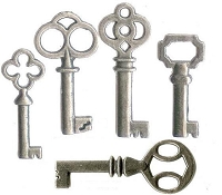 Reproduction Old Keys (4 Keys ) Assorted Styles