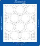 Starform Clear & Stitchable Peel Off Stickers - Clear Circle Frames (Large Sheet)(Gold)