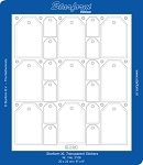 Starform Clear & Stitchable Peel Off Stickers - Clear Square Tags (Large Sheet)(Gold)